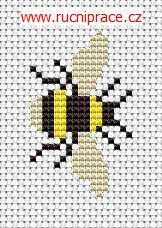 Bumble-bee, free cross stitch patterns and charts - www.free-cross-stitch.rucniprace.cz: