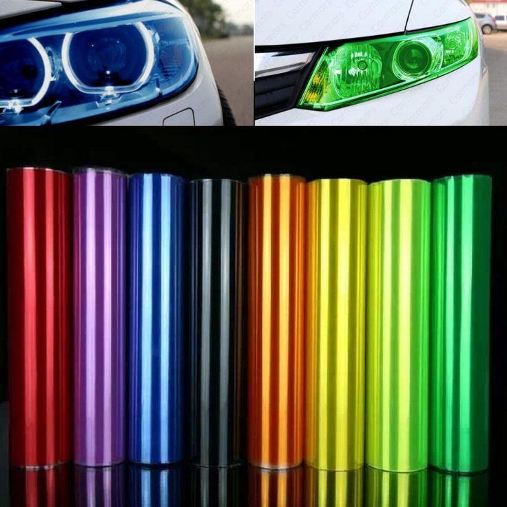 30 cm * 1 m auto car sticker fumo luce di nebbia tinta del fanale posteriore della pellicola del vinile di tutti i colori disponibili decorazione dell'automobile decalcomanie