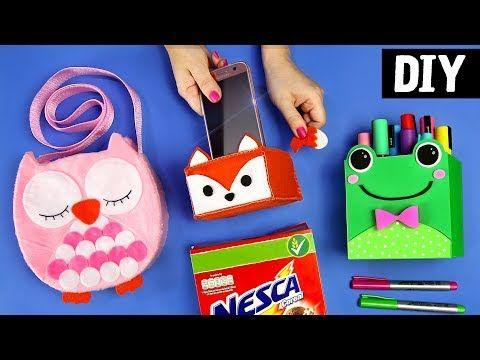 DIYs Bichinhos Fofinhos ❤️ Apoiador de Celular, Bolsa e Porta treco Ideias Kawaii - YouTube
