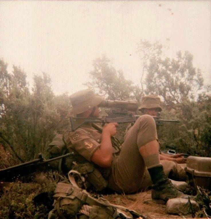 South African Marine Corps in the field during Operation Daisy, 1981.