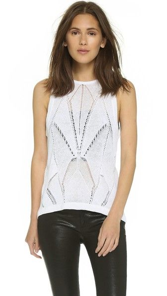 Helmut Lang Fractured Lace Tank