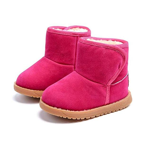 KDHAO Baby Kids Comfortable Casual Shoes Winter Girls Boys Lovely Hiking Snow Boots Todder//Little Kid