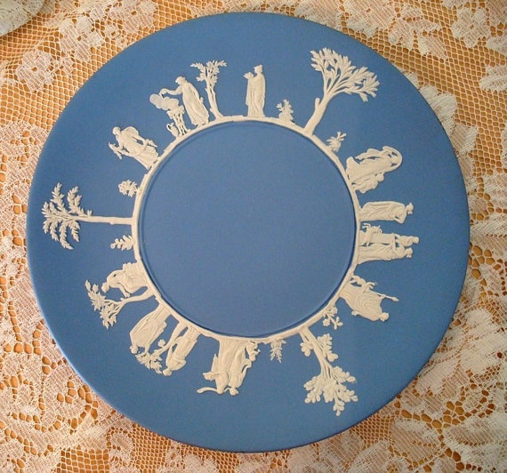 Blue Jasperware plate I just added to my Wedgewood Jasperware collection