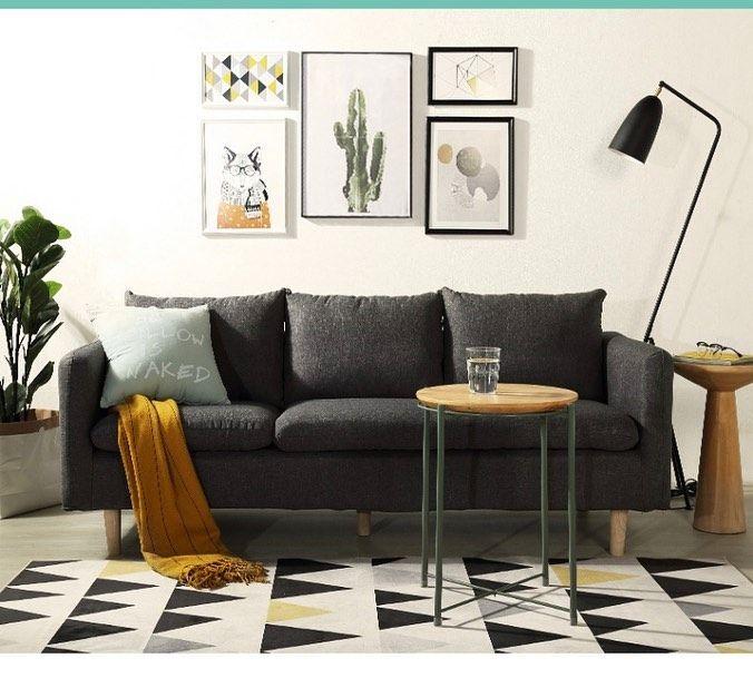 Modern Nordic L Shape Sofa A L Shape And Non Washable 3