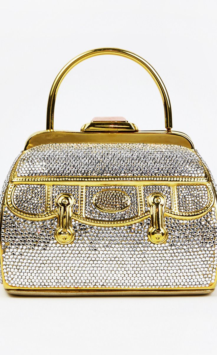 Crystal And Gold Clutch
