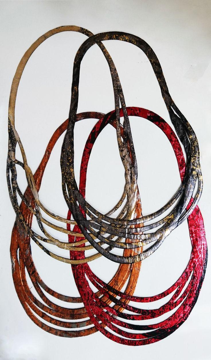 Collares Cintas hechos a mano. Colección Fusión de Kaira, más colores disponibles