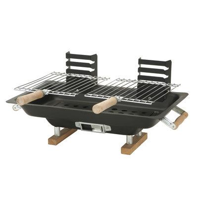 """16.5"""" Steel Hibachi Portable Charcoal Grill"""