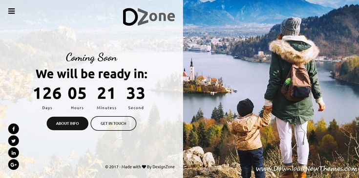 Dzone is awesome design 30+ responsive #HTML5 template for #comingsoon / under construction website with a countdown timer, subscription form, mail form, gallery, social icons and beautiful effects download now..