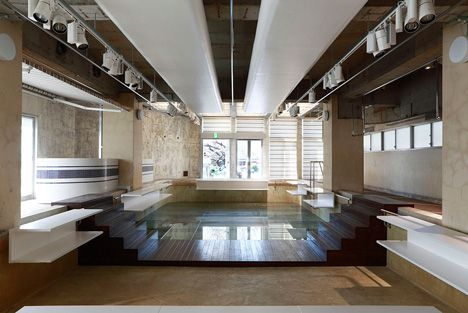 The Pool Aoyama by Hiroshi Fujiwara and Nobuo Araki Tokyo Boutique sits inside an old swimming pool