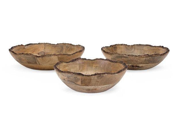 Hanover Wooden Salad Bowls