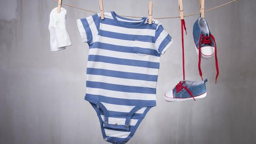 Make sure you have the clothes your baby needs for the first few months, from booties to sleepers.