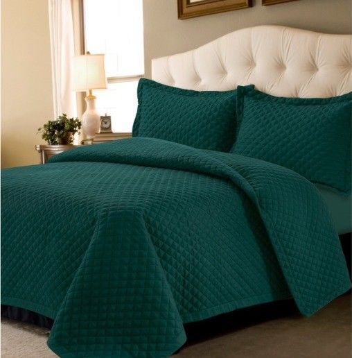 Soft Solid Oversized Quilt Set For Twin Queen King Size Bed Set With