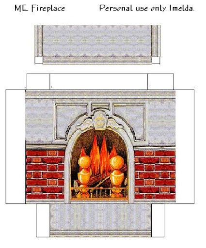 19 best Dollhouse Fireplace images on Pinterest | Paper houses ...