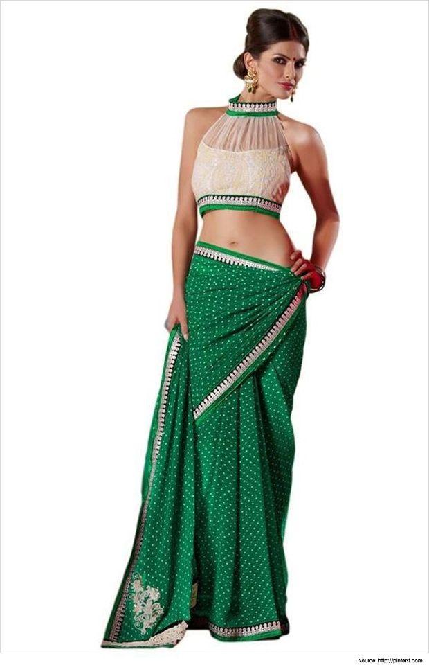 High neck saree blouse Designer Love halter necks