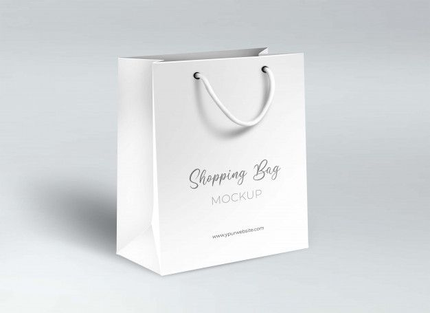 Download Shopping Paper Bag Mockup In 2020 Bag Mockup Mockup Paper Bag