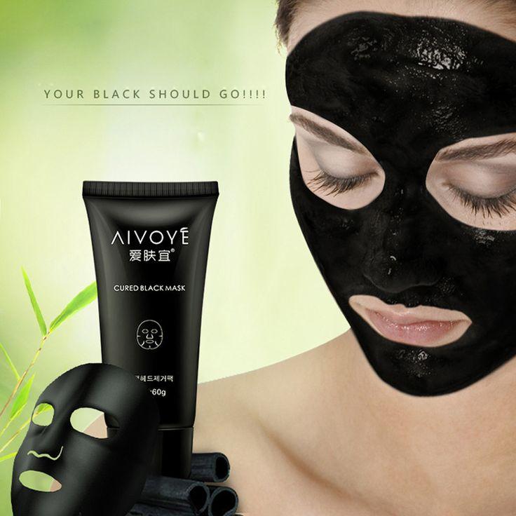 1Pcs Sucktion Black Mask Blackhead Remover Acne Contract Pores Dumb Rough Black Face Mask skin Care Peel Black Head Pore Strip