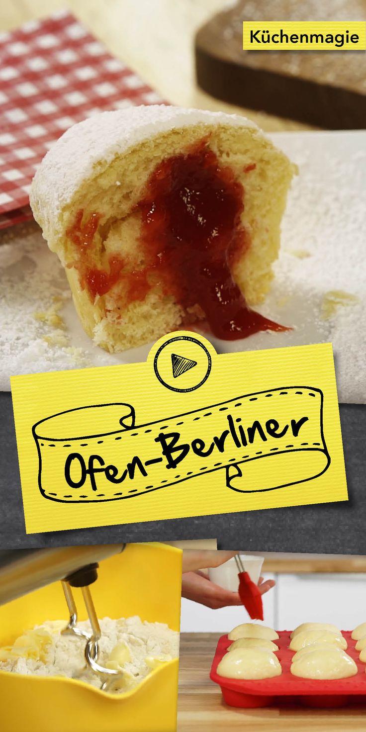 Manchmal muss man sich einfach etwas gönnen. Was gäbe es hier besseres, als ein selbstgemachtes Dessert? Im heutigen Video zeigen wir dir, wie du deine eigenen Ofen-Berliner mit Erdbeerfüllung zubereiten kannst. Einfach genial!