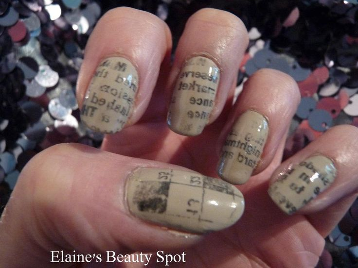 10 best gel nails images on pinterest gel nail extensions gel news paper print nails prinsesfo Image collections