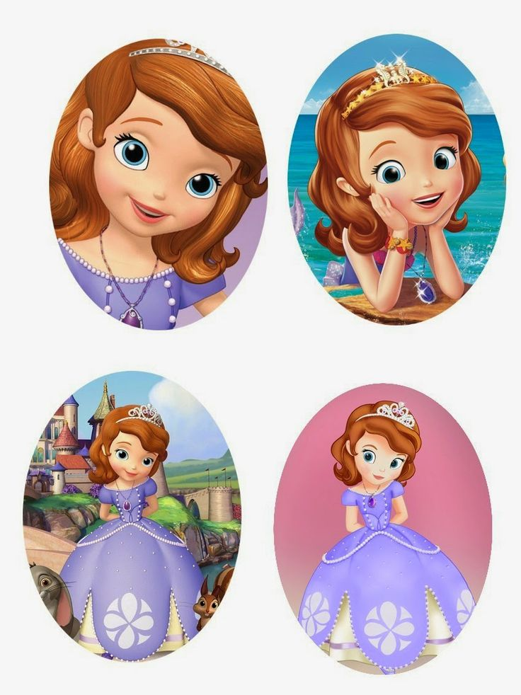 Folie du Jour Bottle Cap Images: Free Sofia the First 30 x 40 mm or 18 x 25 mm oval digital images