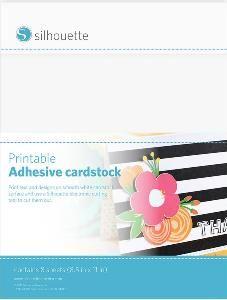 Cardstock / Paper : Printable Adhesive Cardstock