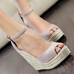 Suede Wanita Wedge Heel Sandal Sepatu platform (More Colors) | LightInTheBox