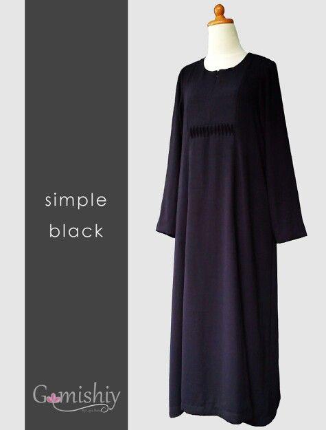 Simple black gamis with princess line.