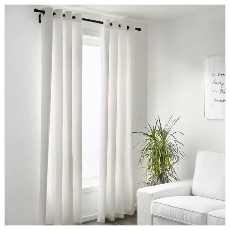 Ikea Merete Room Darkening Curtains 1 Pair Bleached