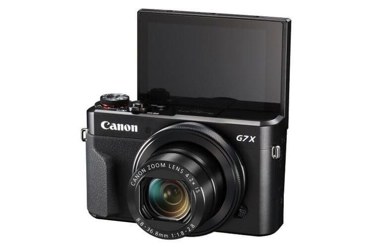 Canon Powershot G7 X Mark II - our pic for best vlogging camera with flip screen #Cameras