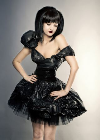 dress made from bin bags - Google Search