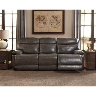 Shop for Signature Design by Ashley Palladum Grey Reclining Power Sofa. Get free shipping at Overstock.com - Your Online Furniture Outlet Store! Get 5% in rewards with Club O! - 21125339