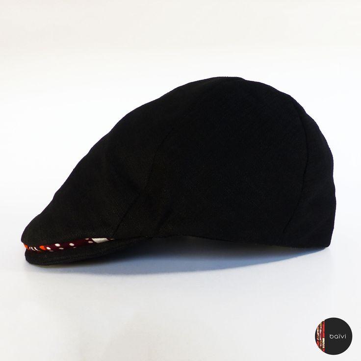 Casquette plate lin et wax, T.58 : Chapeau, bonnet par baivi