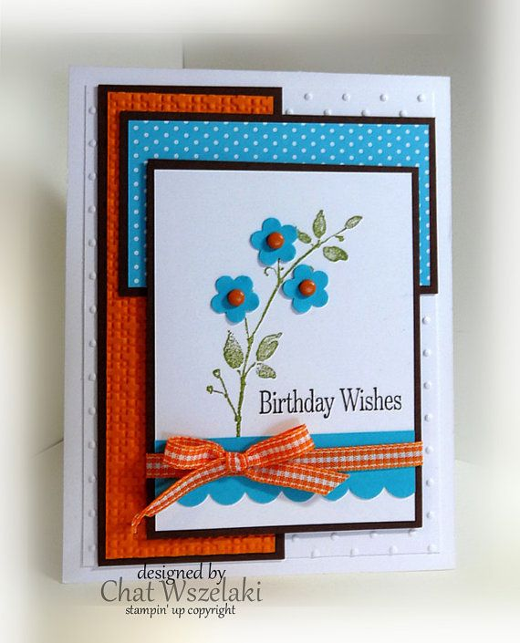 Stampin' Up Birthday Wishes Card