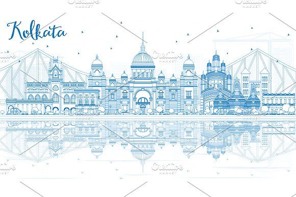 #Outline #Kolkata #Skyline by Igor Sorokin on @creativemarket