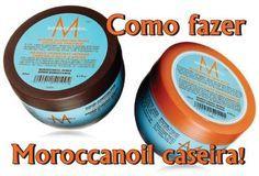 COMO FAZER MOROCCANOIL CASEIRA - TAMPAS LARANJA E MARROM | Clube do cabelo e cia
