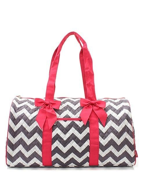 Chevron Quilted Duffle Bag Gym Dance Ping Travel
