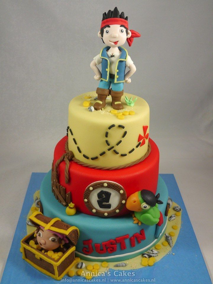 Jake neverland pirates cake / Jake en de nooitgedacht piraten taart.