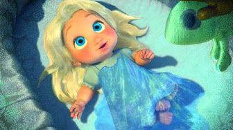 Frozen Elsa y Anna Cancion Los pollitos Frozen Canciones Infantiles - YouTube