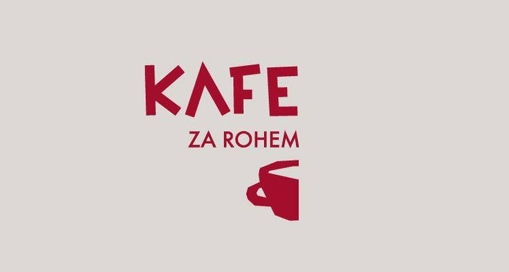 Kafe za rohem Kavárna, Boskovice Logotyp a vizuální styl (2013) Cafe, Logotype and visual style