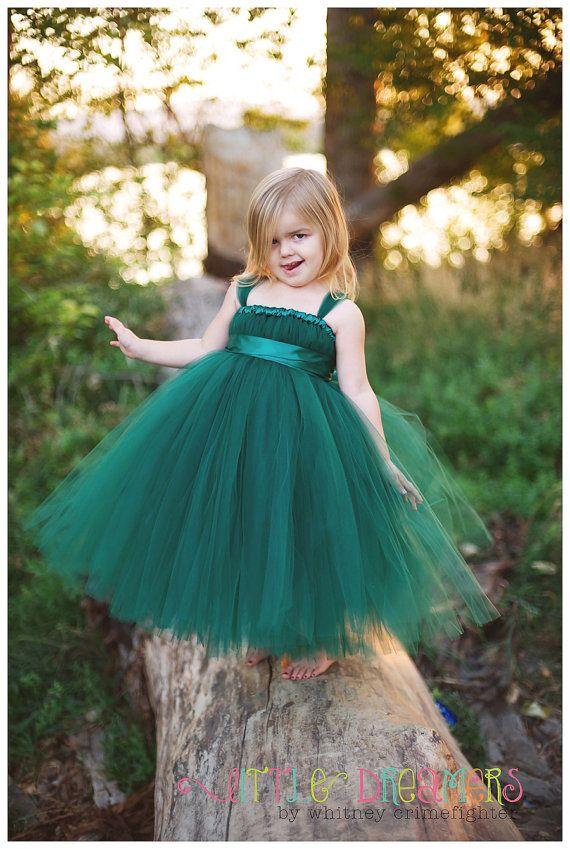 Hunter Green Tutu Dress op Etsy, 44,96€