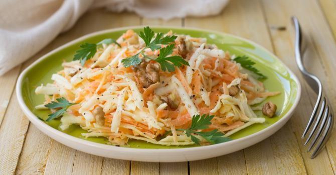 Recette de Salade de carottes et céleri à l'orange et au citron. Facile et rapide à réaliser, goûteuse et diététique.