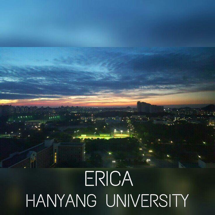 night view of Hanyang university from dorm what a nice view!! #campus #night view #university