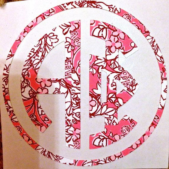 Lilly Pulitzer Sorority Decal