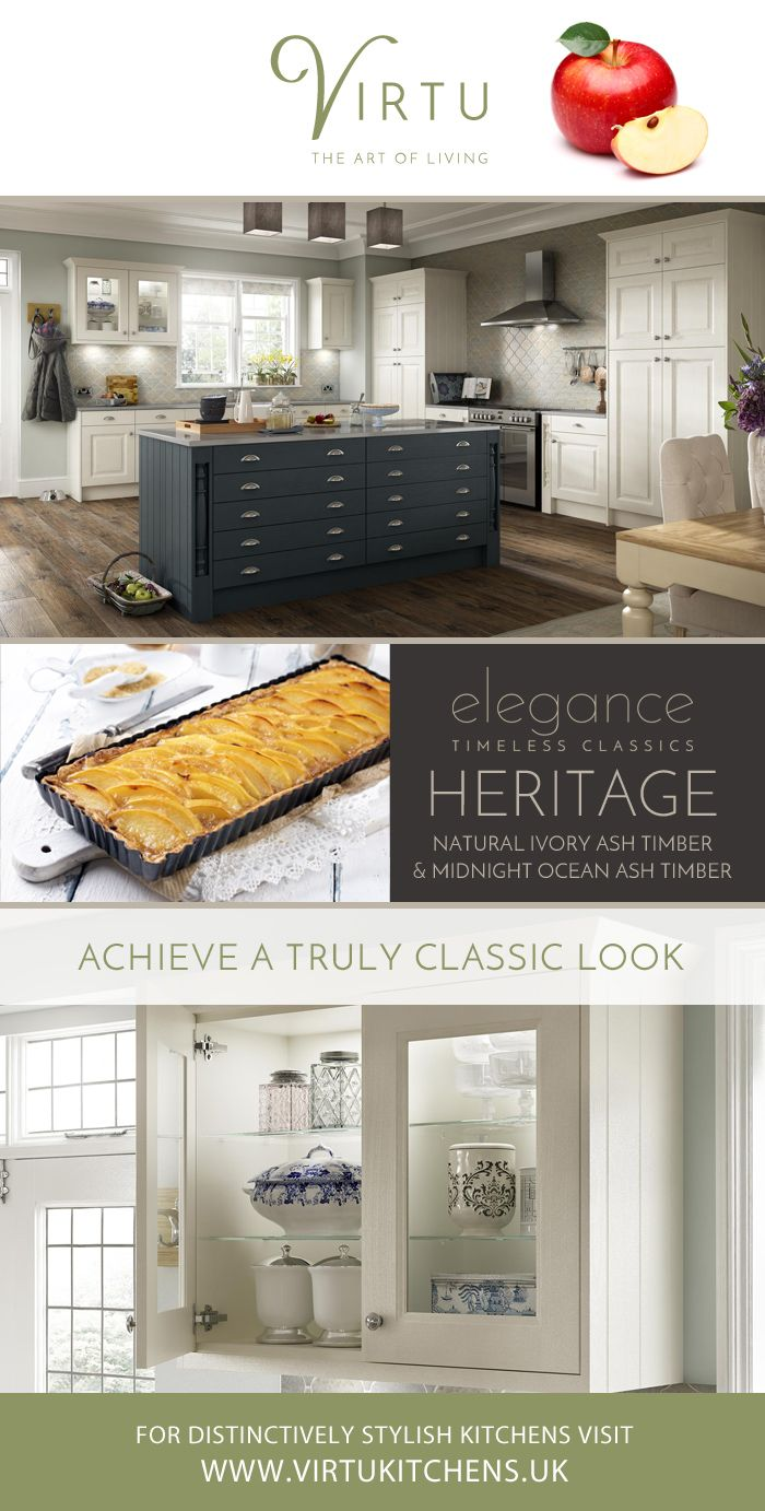 A timeless classic kitchen. Available in 20 colours. Find your favourite at  www.