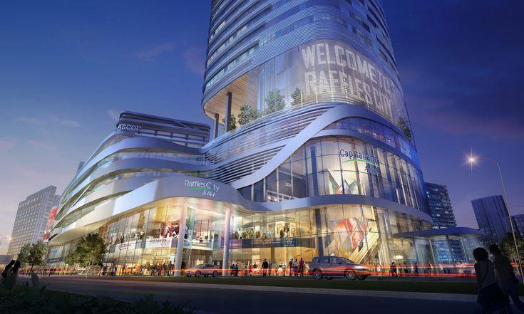 25 best mall facade ideas on pinterest for Shopping mall exterior design