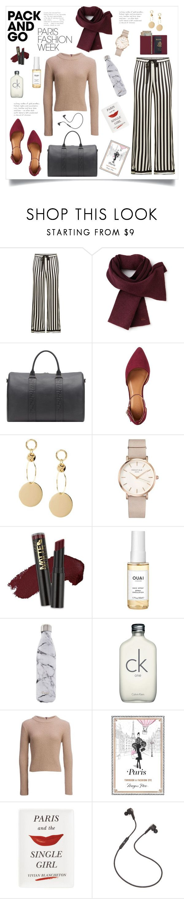 """""""Paris Bound"""" by alexandra-fry ❤ liked on Polyvore featuring Morgan Lane, Lacoste, Charlotte Russe, ROSEFIELD, L.A. Girl, Ouai, S'well, Carve Designs, Chronicle Books and Kate Spade"""