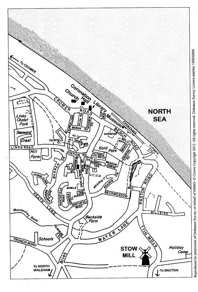 Mundesley Village Street Map
