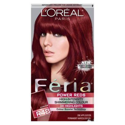 LOreal Feria Hair Color - Intense Deep Auburn (R48)