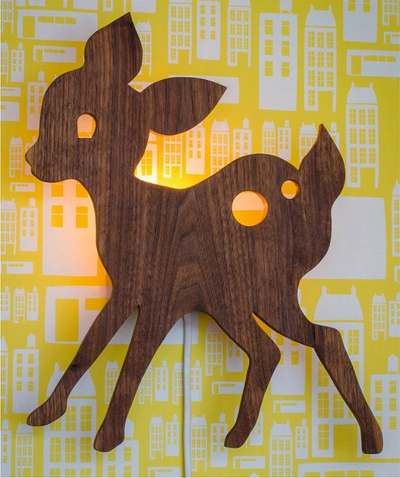 Dear deer   retro light lamp baby childrens room woodland cute on Etsy, $91.03 CAD