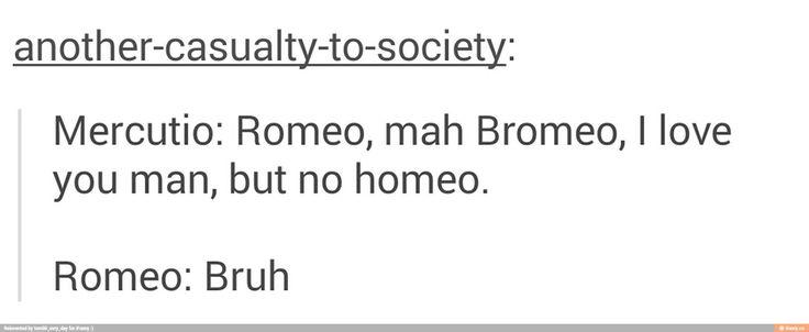 Mercutio is my spirit animal. I got to play him when my English class read Romeo & Juliet