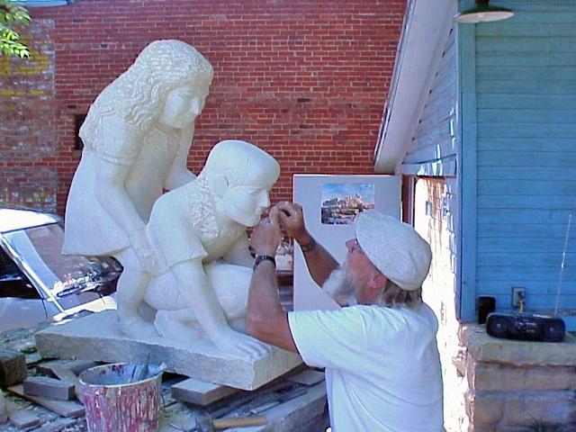 Local Hays Artist Pete Felten - http://www.kansastravel.org/stonegallery.htm  - http://www.washburn.edu/cas/art/cyoho/archive/KStravel/Hays/sculpt/